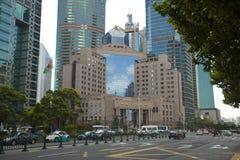 Banca di Cina della gente di Schang-Hai Immagini Stock
