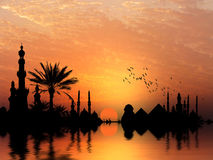 Banca di fiume del Nilo Fotografia Stock
