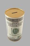 Banca di moneta del dollaro con il percorso di residuo della potatura meccanica Immagine Stock