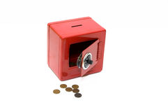 Banca di risparmio rossa di combinazione Immagini Stock