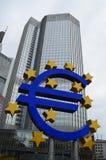 Banca europea Francoforte di quintale Fotografie Stock