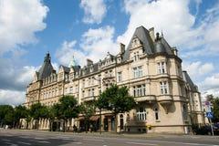 Banca famosa a Lussemburgo Fotografia Stock