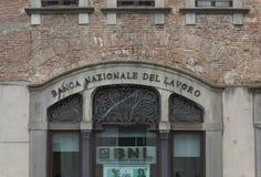 Banca Nazionale del Lavoro在卢卡市 图库摄影