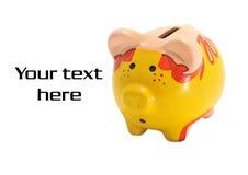 Banca Piggy Fotografia Stock Libera da Diritti