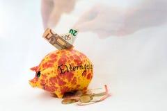 Banca piggy arancione Fotografia Stock