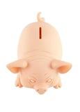 Banca Piggy con il percorso di residuo della potatura meccanica Fotografie Stock