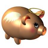 Banca Piggy con un guidacarta royalty illustrazione gratis