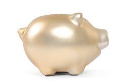Banca piggy dell'oro Fotografie Stock