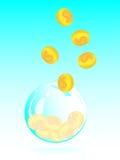 Banca piggy della bolla di sapone Fotografie Stock