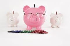 Banca piggy di gioco Fotografia Stock Libera da Diritti