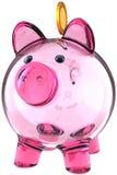 Banca piggy di vetro Fotografia Stock