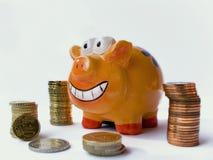 Banca piggy felice Fotografie Stock Libere da Diritti