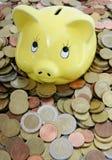 Banca piggy gialla Fotografia Stock