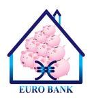 Banca Piggy isolata Fotografia Stock