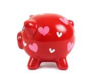 Banca Piggy nell'amore Fotografia Stock