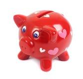 Banca Piggy nell'amore Fotografie Stock Libere da Diritti