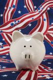 Banca piggy patriottica Fotografia Stock
