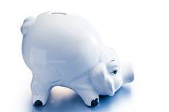 Banca Piggy su bianco fotografia stock