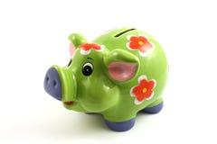 Banca piggy verde Immagini Stock