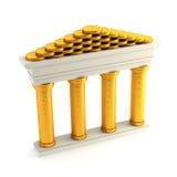 Banca simbolica Immagini Stock