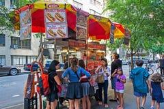 Bancarella di hot-dog Immagine Stock