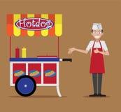 Bancarella di hot-dog Fotografia Stock Libera da Diritti
