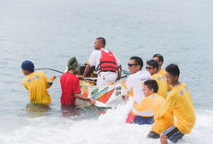 Bancarera种族在菲律宾 免版税库存图片