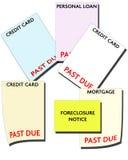 Bancarrota - débito de consumidor ilustração stock