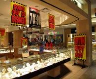 Bancarrota del almacén de joyería Imagen de archivo libre de regalías