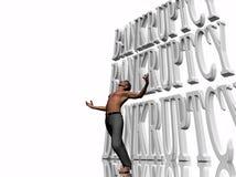 Bancarrota, negócio de failing, grito para a ajuda. ilustração do vetor