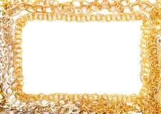 Banch του χρυσού πλαισίου κοσμήματος στοκ φωτογραφία με δικαίωμα ελεύθερης χρήσης