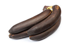 Banch of black bananas Stock Images