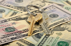 Banch Of Keys And Money Stock Photos