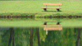 Banch nel lago Fotografia Stock Libera da Diritti