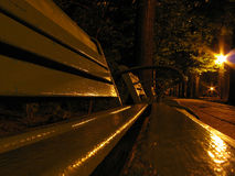 Banch night. Park bench Stock Photography
