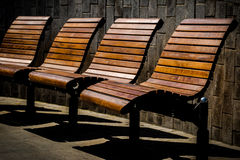 Banch rest empty seats park Royalty Free Stock Photo