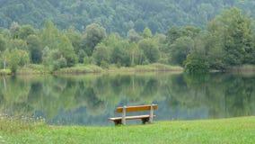 Banch solo nel lago Fotografia Stock Libera da Diritti