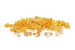 Banch van Gouden juwelen royalty-vrije stock foto