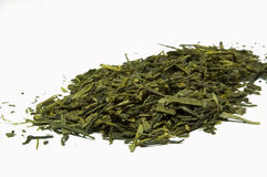 bancha绿色留下茶 免版税库存照片