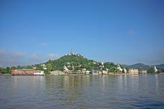 Banche del fiume di Irrawaddy immagine stock