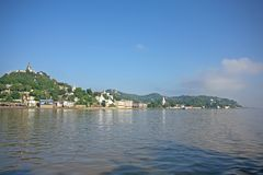 Banche del fiume di Irrawaddy immagini stock