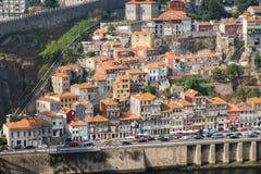 Banche del fiume il Duero Invicta Oporto Fotografie Stock Libere da Diritti
