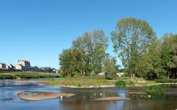 Banche del fiume Loira Fotografie Stock