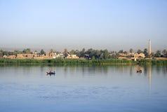Banche del fiume Nilo Fotografie Stock