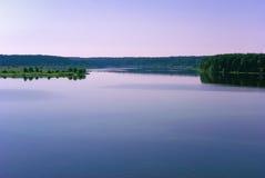Banche del fiume Volga Fotografia Stock