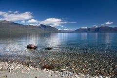 Banche del lago Te Anau, Nuova Zelanda Fotografia Stock Libera da Diritti