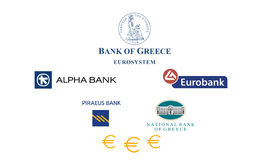 Banche della Grecia Fotografia Stock