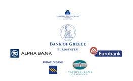 Banche della Grecia Immagini Stock
