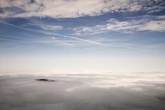 Banche di nebbia nelle alpi austriache Immagine Stock Libera da Diritti