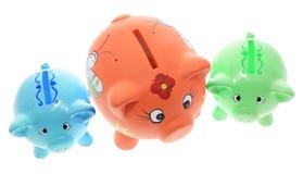 Banche Piggy immagine stock